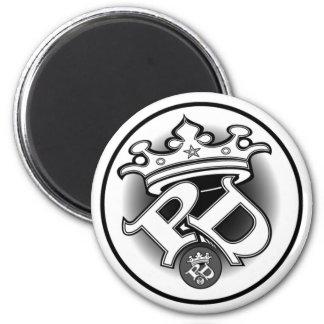 Poe Dis White Logo Magnet