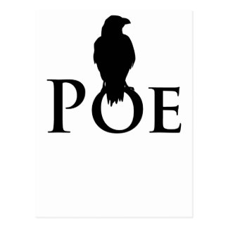 Poe Edgar Allan Poe and the raven Postcard