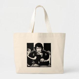 Poe Portrait Large Tote Bag