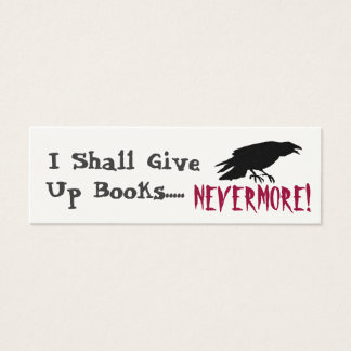 Poe-tic Bookmark Mini Business Card