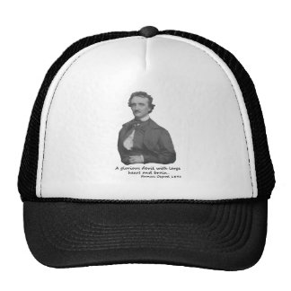 Poe with Frances Osgood Quotation Trucker Hat