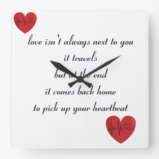 poem bell square wall clock