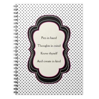 Poem for Writers Polka Dot Notebook