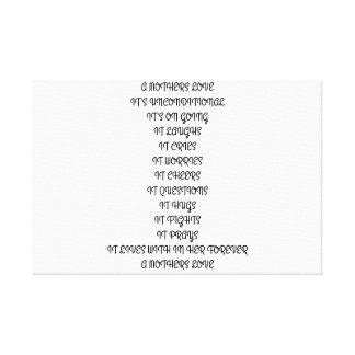 POEM,MOTHER,LOVE,CHILD,UNCONDITIONAL,FAMILY CANVAS PRINT