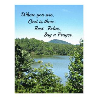 Poem of God's nearness. Letterhead Template