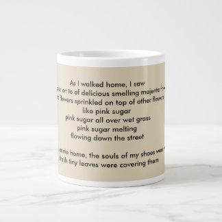 "poem ""Petals"" by Elizaveta Limanova Large Coffee Mug"