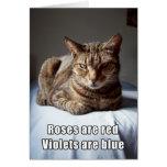Poème drôle de chat de Valentine Carte De Vœux