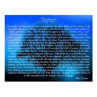 Poème inspiré de desiderata avec l'arbre mystique cartes postales
