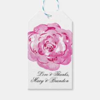 Poeny Watercolor Floral Wedding Pack Of Gift Tags