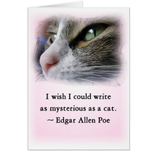 Poe's Cat Card