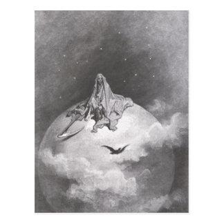 Poe's Raven Dreaming Dreams Print Postcard