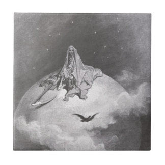 Poe's Raven Dreaming Dreams Print Tile