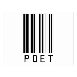 Poet Bar Code Postcard
