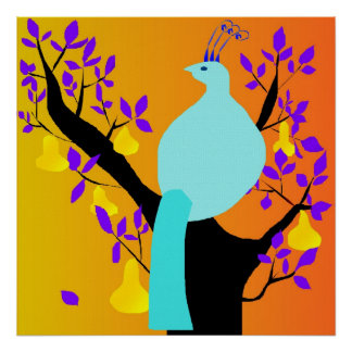 Poet Partridge In A Ragged Black Pear Tree Poster