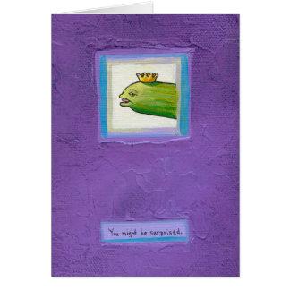 Poet pickle eel king? fun weird birthday card art