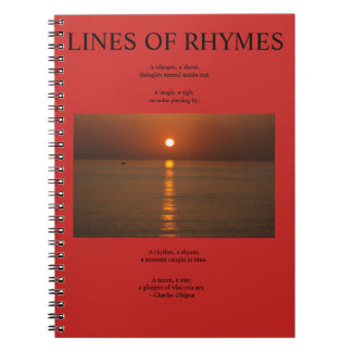 Poet's Notebook, Lines of Rhymes Notebook