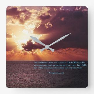 Poetic benediction... square wall clock