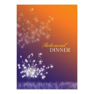 Poetic Dandelions Wedding Rehearsal Dinner Card
