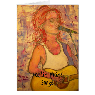 poetic lyrics & song girl art card