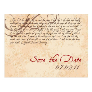 Poetic Save the Date Postcard