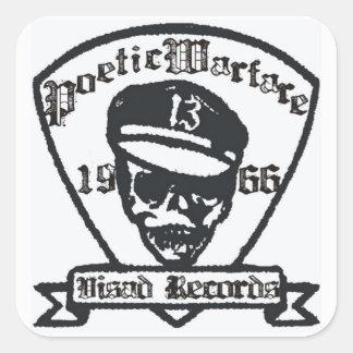 Poetic Warfare - Fight the Beast Square Sticker