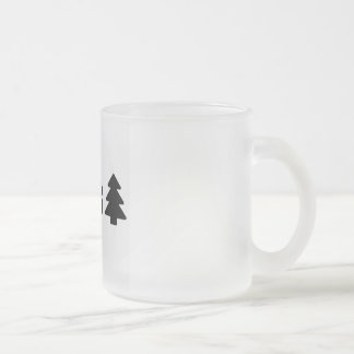 Poetry coffee cup. frosted glass coffee mug