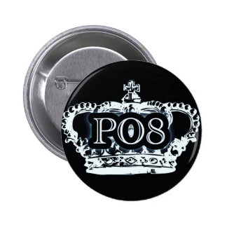 Poetry Crown 2 Inch Round Button