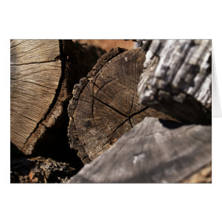 Poetry for Someone Card with Wood Pile Photograph