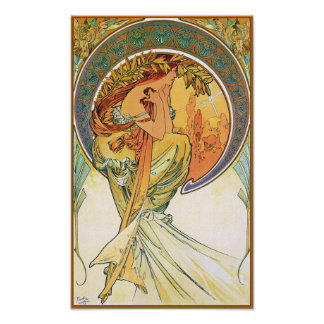 """POETRY from the series """"The Arts"""" by Mucha Poster"""