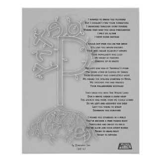Poetry is Alive B&W Poster