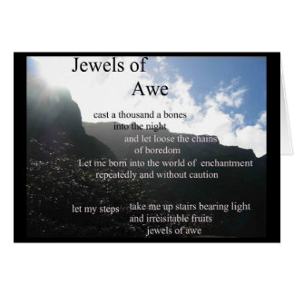 poetry - Jewels of Awe card