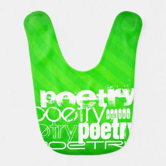 Poetry; Neon Green Stripes Bib