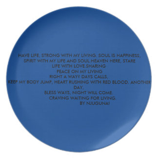 poetry party plate