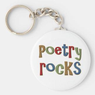 Poetry Rocks Keychain