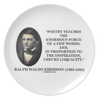 Poetry Teaches Enormous Force Of Few Words Quote Dinner Plate