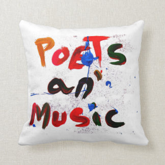 poets and music throw pillow