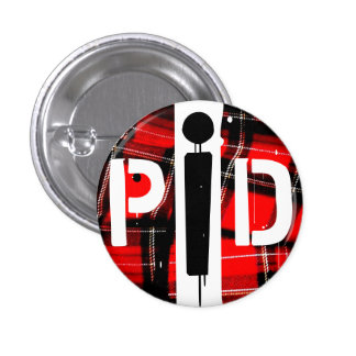 POETS IN DISTRESS PLAID BUTTON