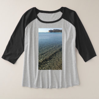 Poetto beach sardinia plus size raglan T-Shirt