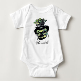 Pog Dog -Aqua Graphic Illustration Baby Bodysuit