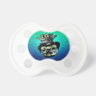 Pog Dog -Aqua Graphic Illustration Pacifier