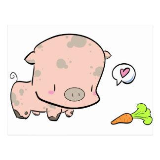 Pog the piggy postcard
