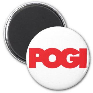 Pogi - Red Fridge Magnet