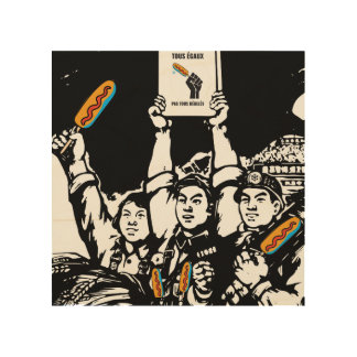 Pogo more not thawed out Communism Quebec pol. Wood Print