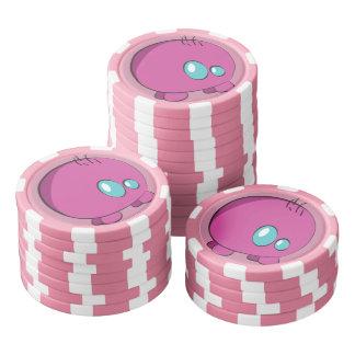 Pogo O.o Pink Custom Clay Poker Chips