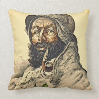 Poilu 1916 throw pillow