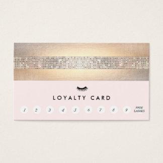Poinçon rose de la fidélité 10 de client de cartes de visite
