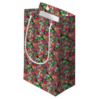 poinsetta paper small gift bag