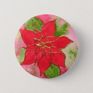 Poinsettia 1.JPG 2 Inch Round Button