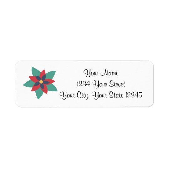 Poinsettia Address Label