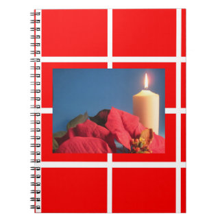 Poinsettia and Candle Photo Notebook
